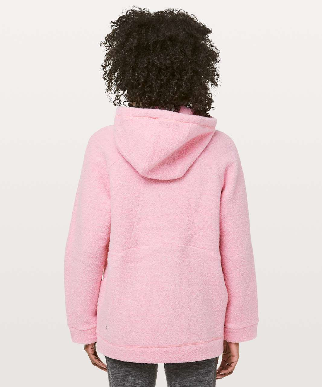Lululemon So Sherpa Hooded Jacket - Heathered Pink Haze