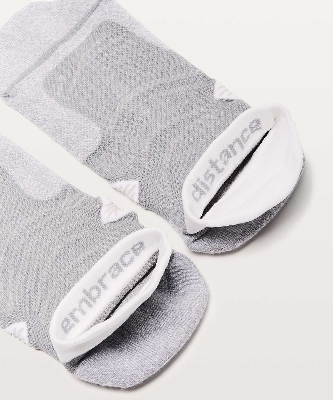 Lululemon Speed Sock *Silver - Light Cast / White