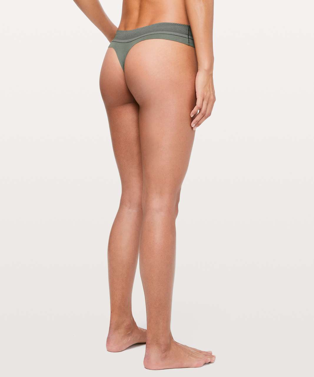 Lululemon Ever Essentials Thong - Grey Sage
