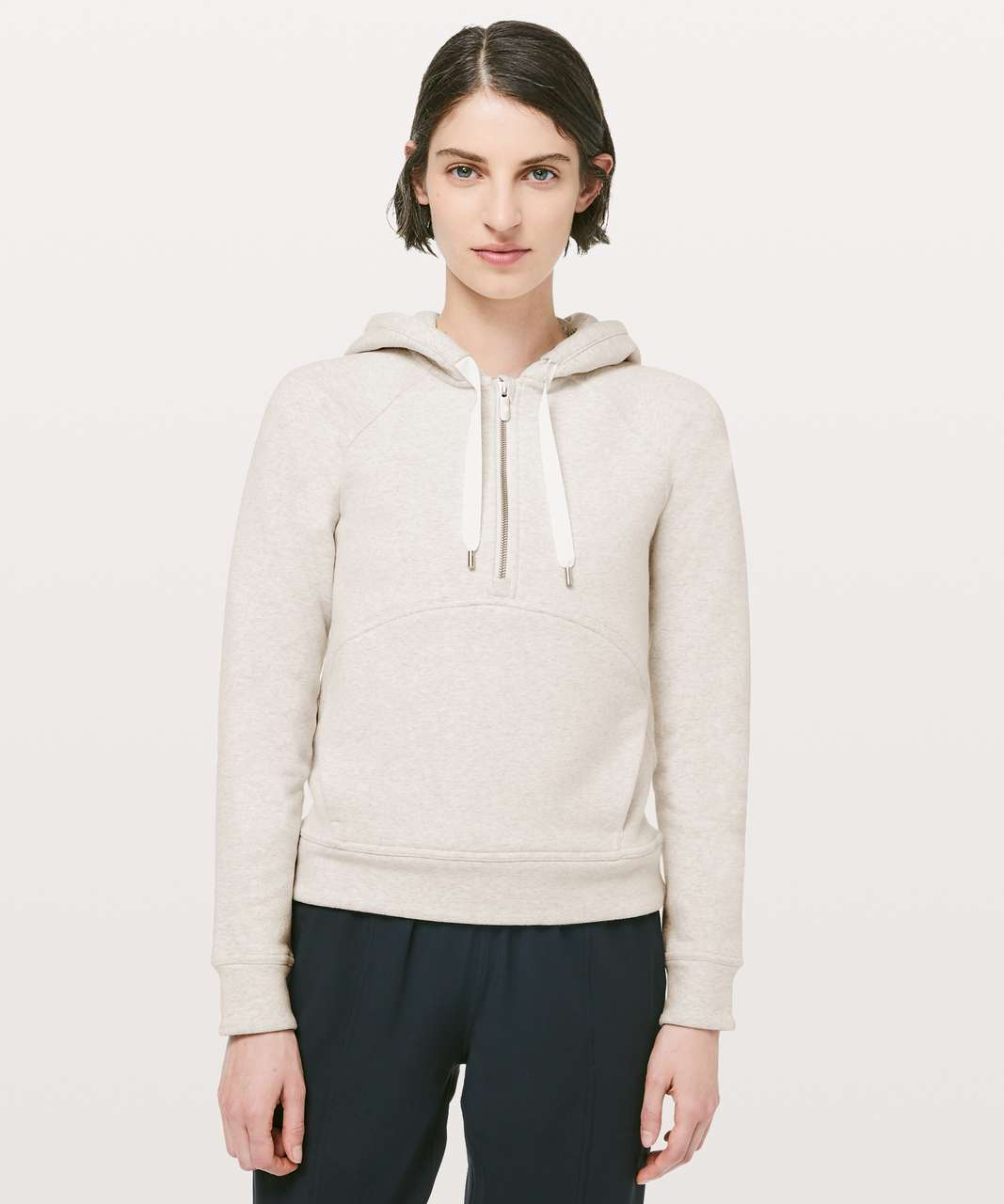 Lululemon Catch A Moment Hoodie - Heathered Light Ivory / Light Ivory