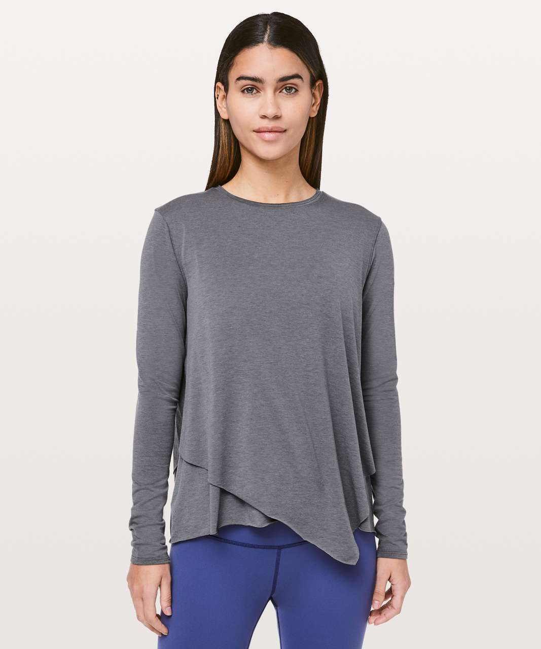 Lululemon Sweetest Day Long Sleeve *Tencel - Heathered Titanium