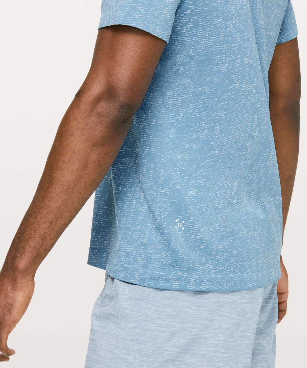Lululemon Metal Vent Tech Short Sleeve - Utility Blue / White