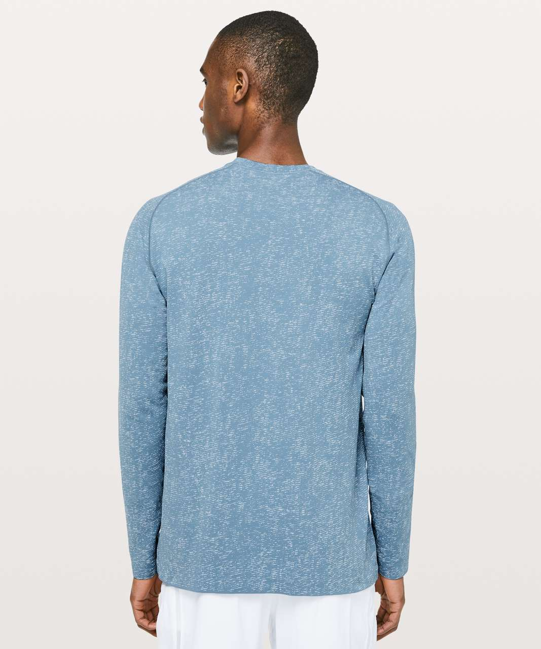 Lululemon Metal Vent Tech Long Sleeve - Utility Blue / White