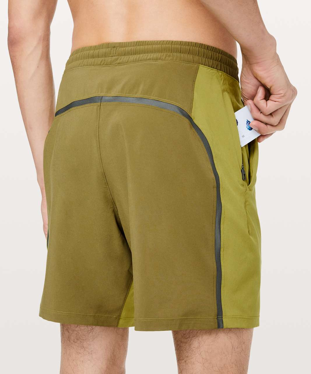"Lululemon Pace Breaker Short 7"" *Linerless - Golden Lime / Mossy / Grey Sage"