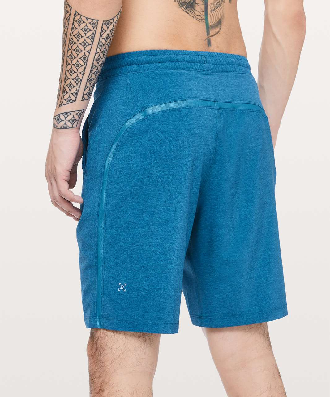 "Lululemon Pace Breaker Short 9"" *Linerless - Heathered Texture Printed Vivid Aqua"