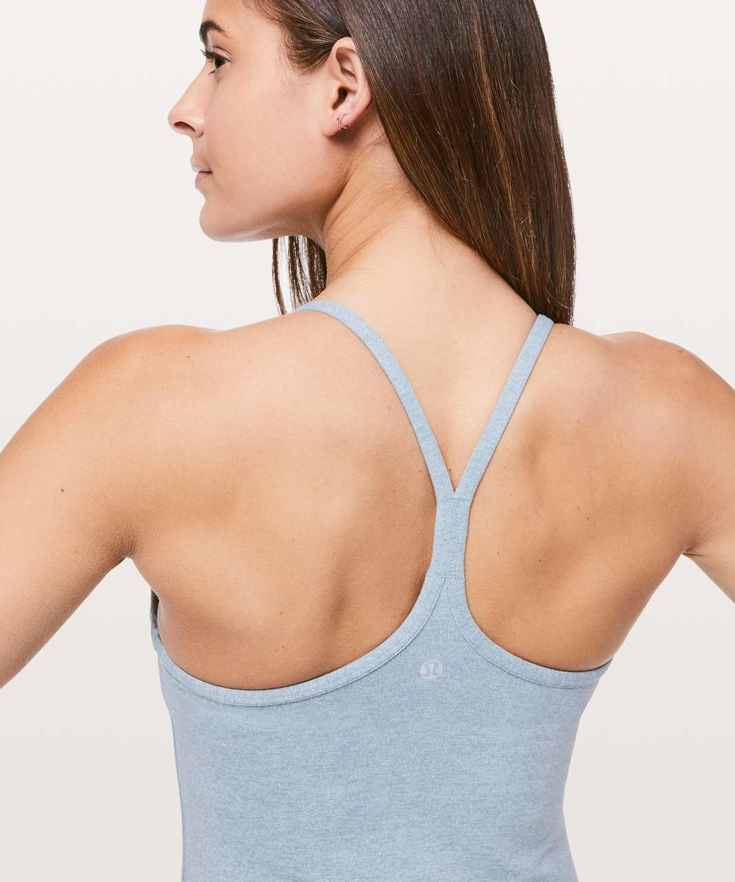 Lululemon Power Y Tank *Luon - Heathered Blue Cast
