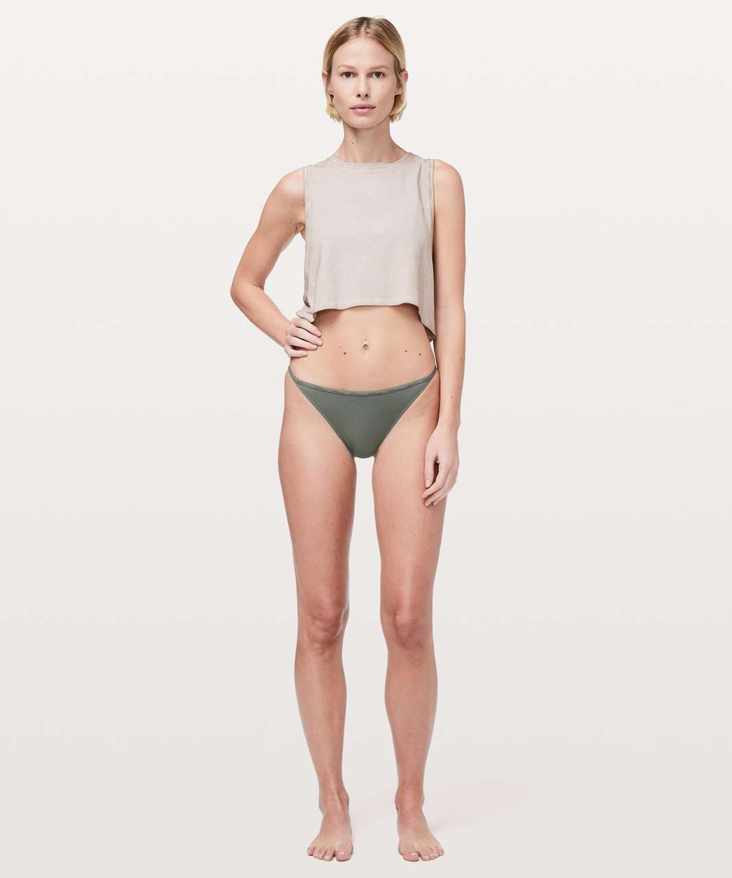 Lululemon Simply There Cheeky Bikini - Grey Sage