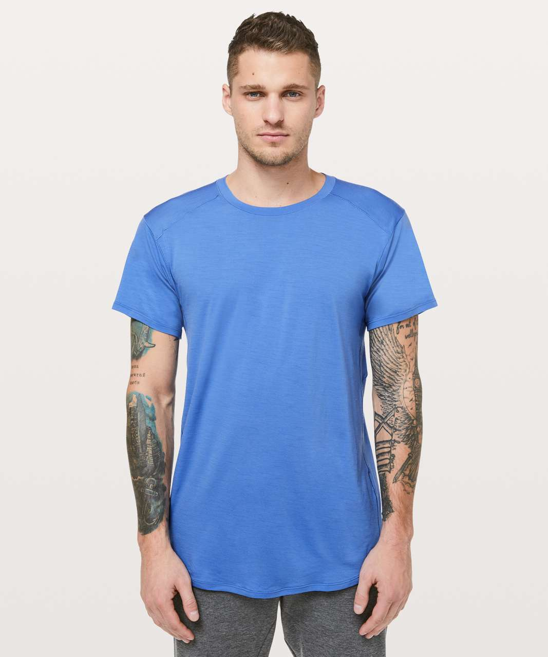 Lululemon Diffract Short Sleeve *lululemon Lab - Chromatic Blue