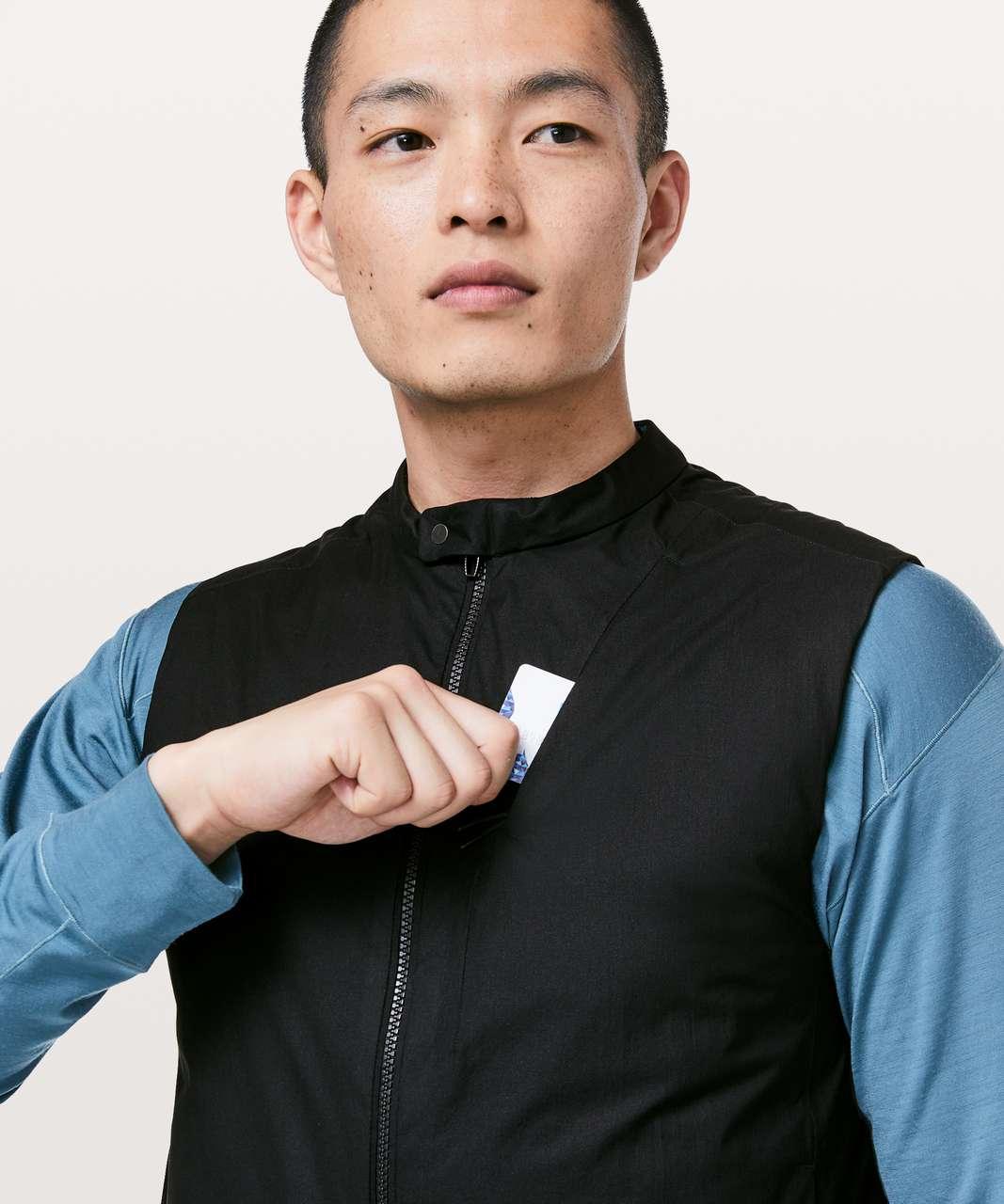 Lululemon Accedo Vest *Reversible lululemon Lab - Black / Aqua Print