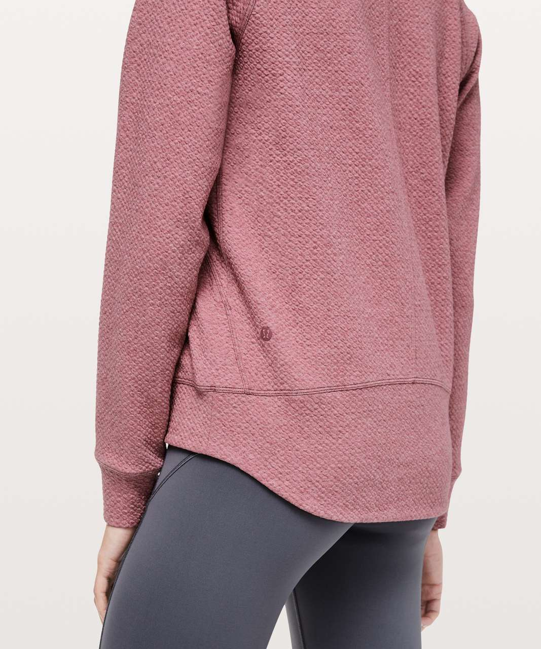 Lululemon Catch A Moment Crew - Heathered So Merlot / So Merlot