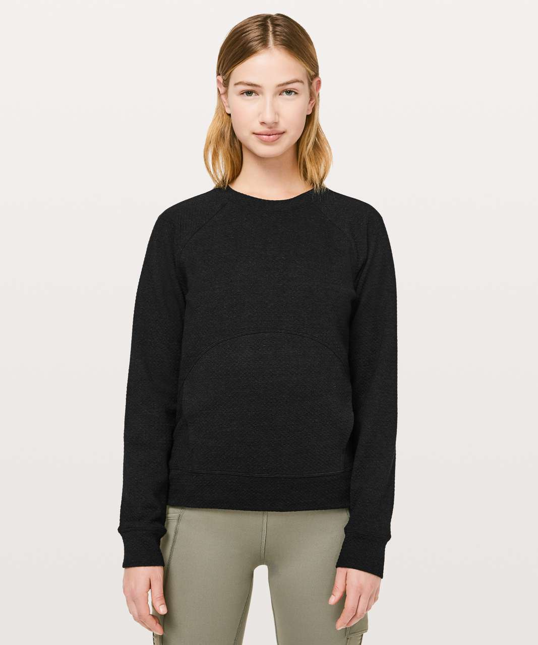 Lululemon Catch A Moment Crew - Heathered Core Black