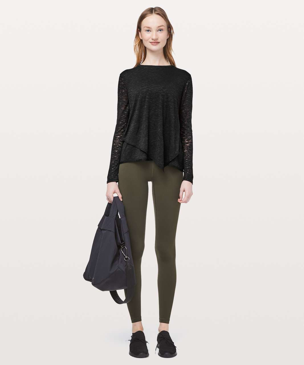 Lululemon Sweetest Day Long Sleeve *Burnout - Black