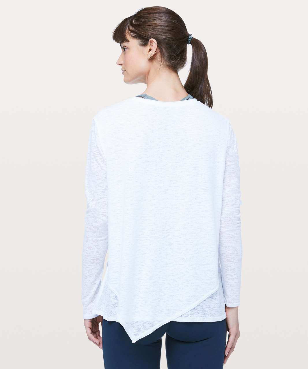 Lululemon Sweetest Day Long Sleeve *Burnout - White