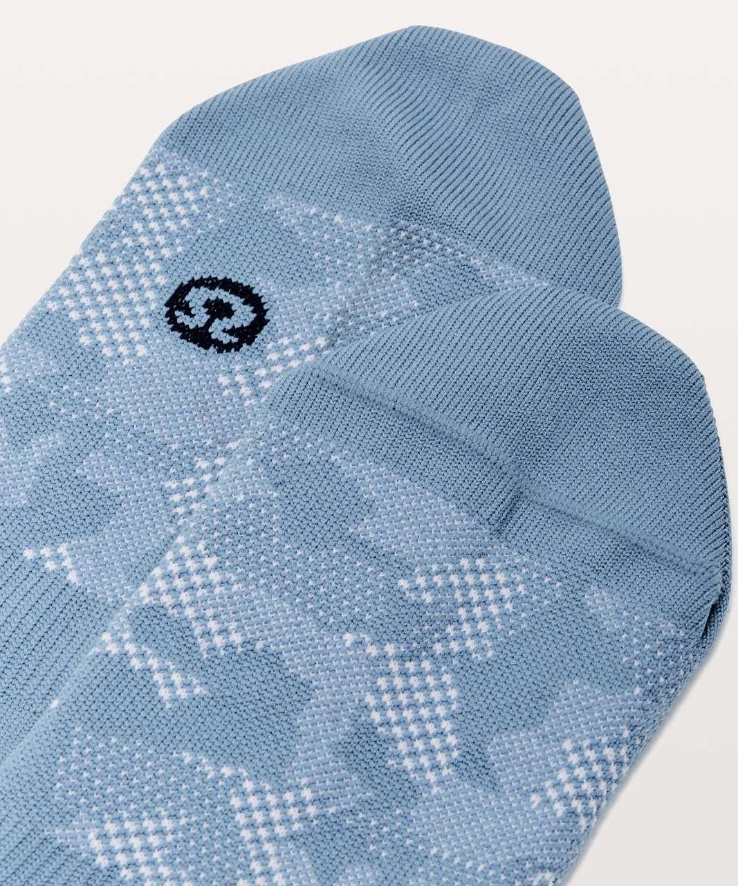 Lululemon No Sock Sock - Utility Blue / White
