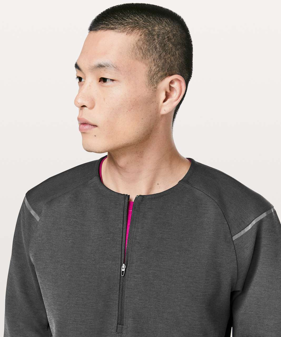 Lululemon Diffract 1/2 Zip Pullover *lululemon lab - Deep Coal