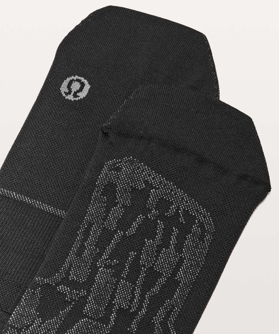 Lululemon Surge Sock *Silver - Black / White
