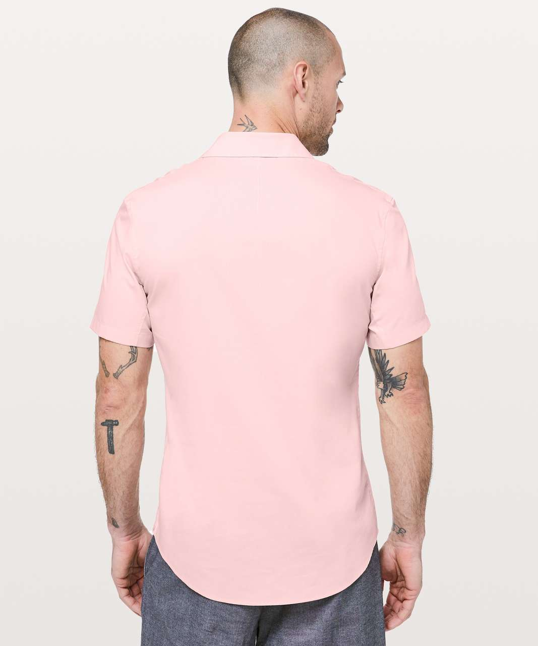 Lululemon Down To The Wire Short Sleeve Shirt - Seashell