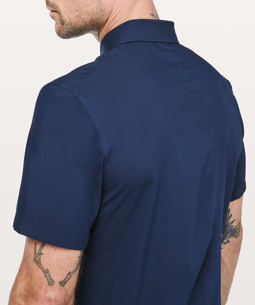 Lululemon Down To The Wire Short Sleeve Shirt - True Navy
