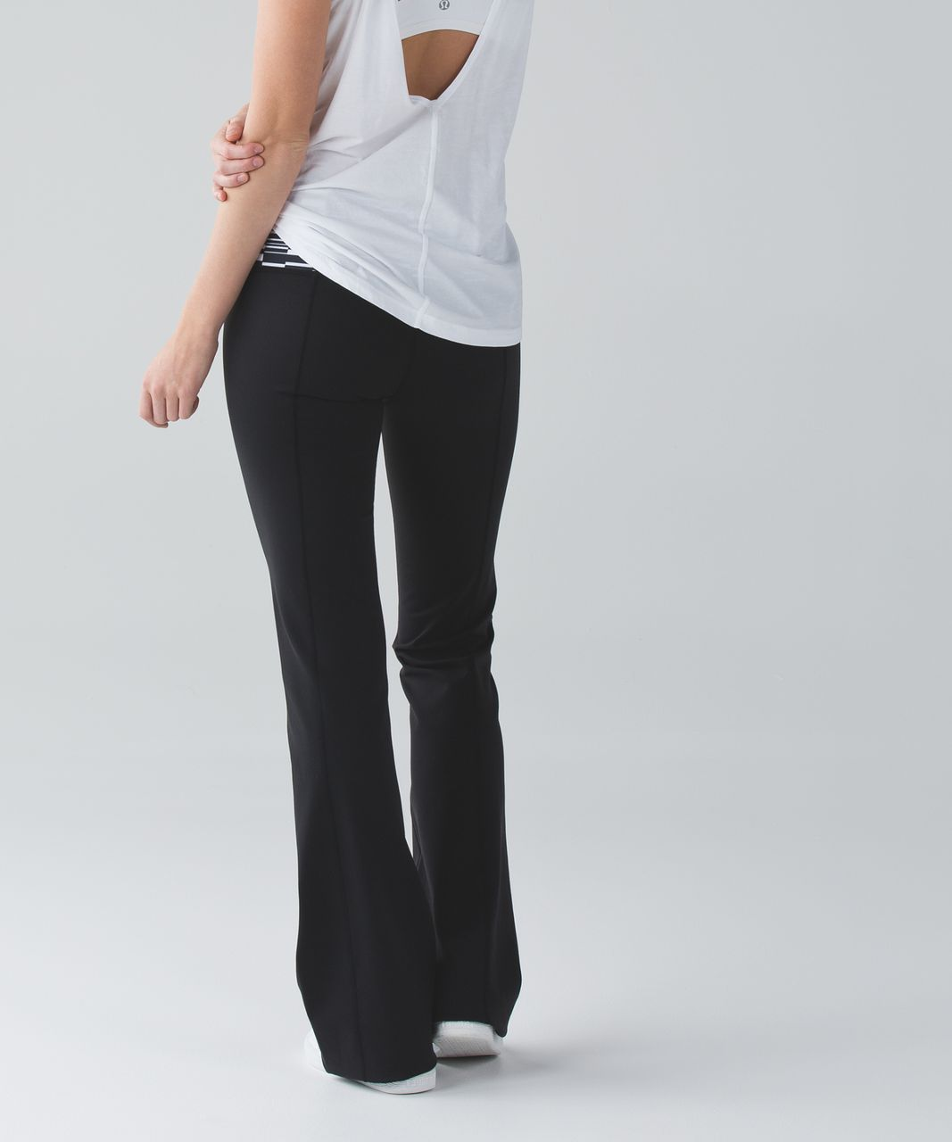 Lululemon Groove Pant III (Tall) - Black / Ying Yang Stripe White Black