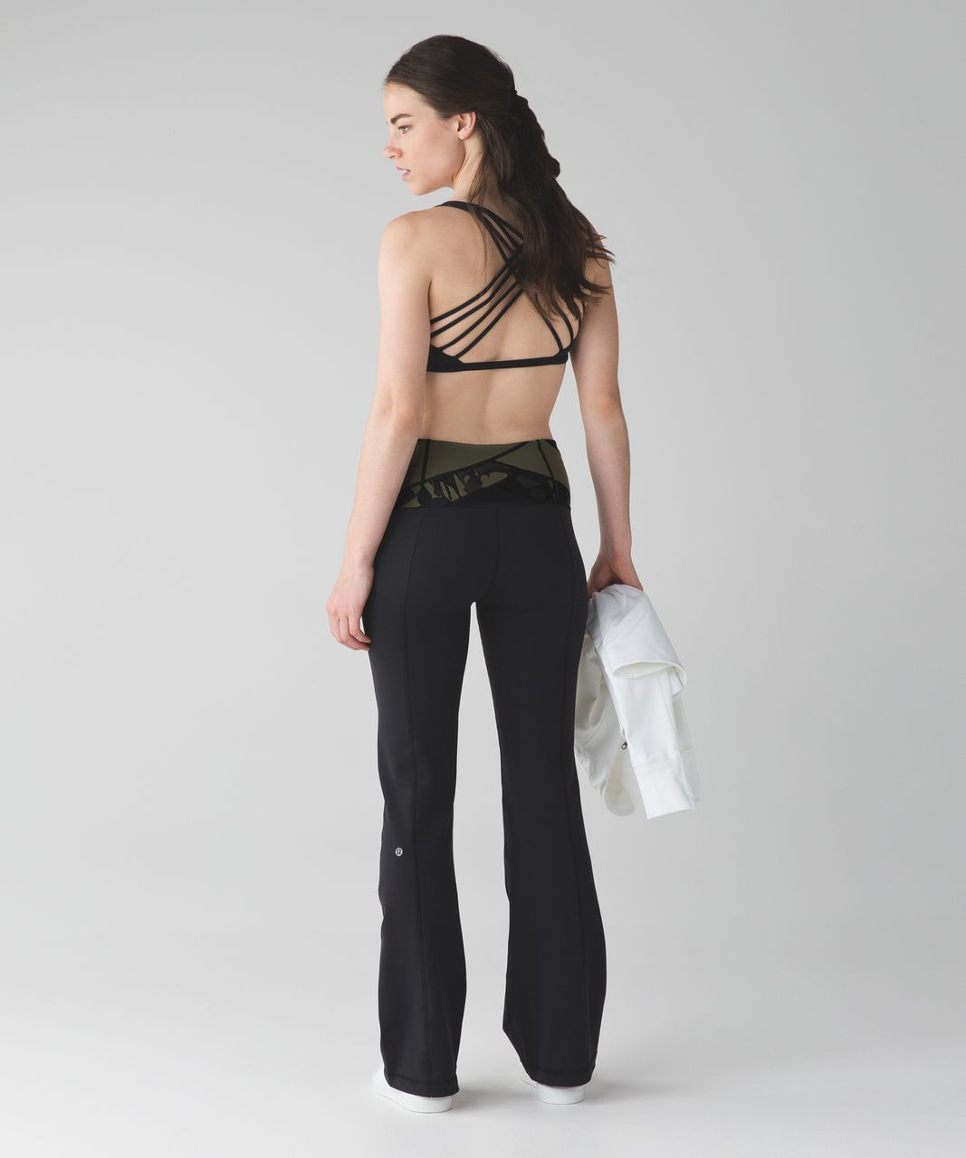 Lululemon Groove Pant III (Tall) - Black / Deep Coal / Pop Cut Fatigue Green Black