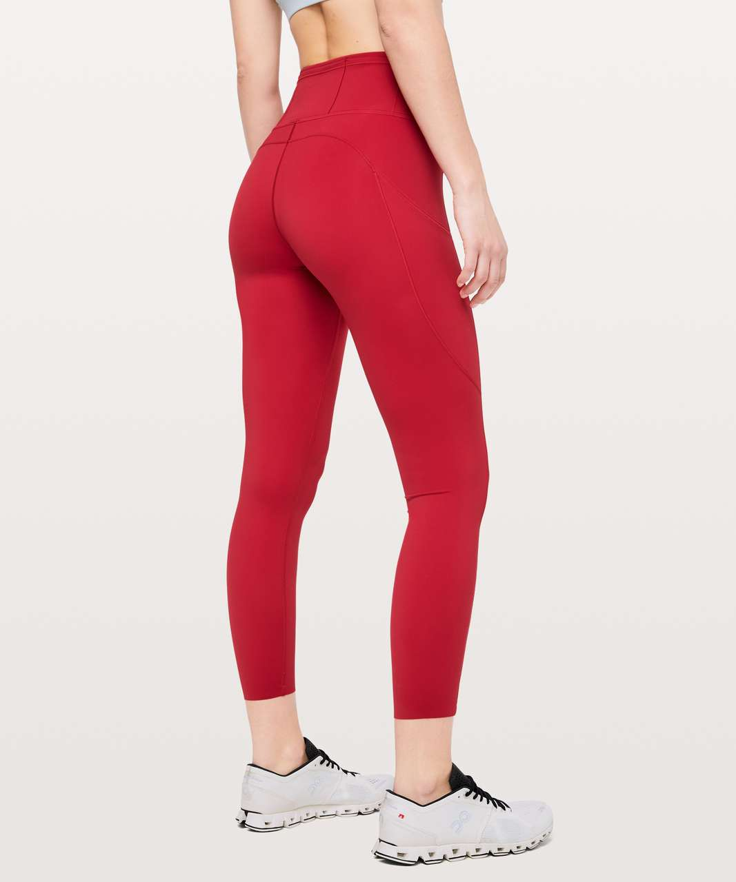 "Lululemon Fast & Free 7/8 Tight II *Non-Reflective Nulux 25"" - Dark Red"