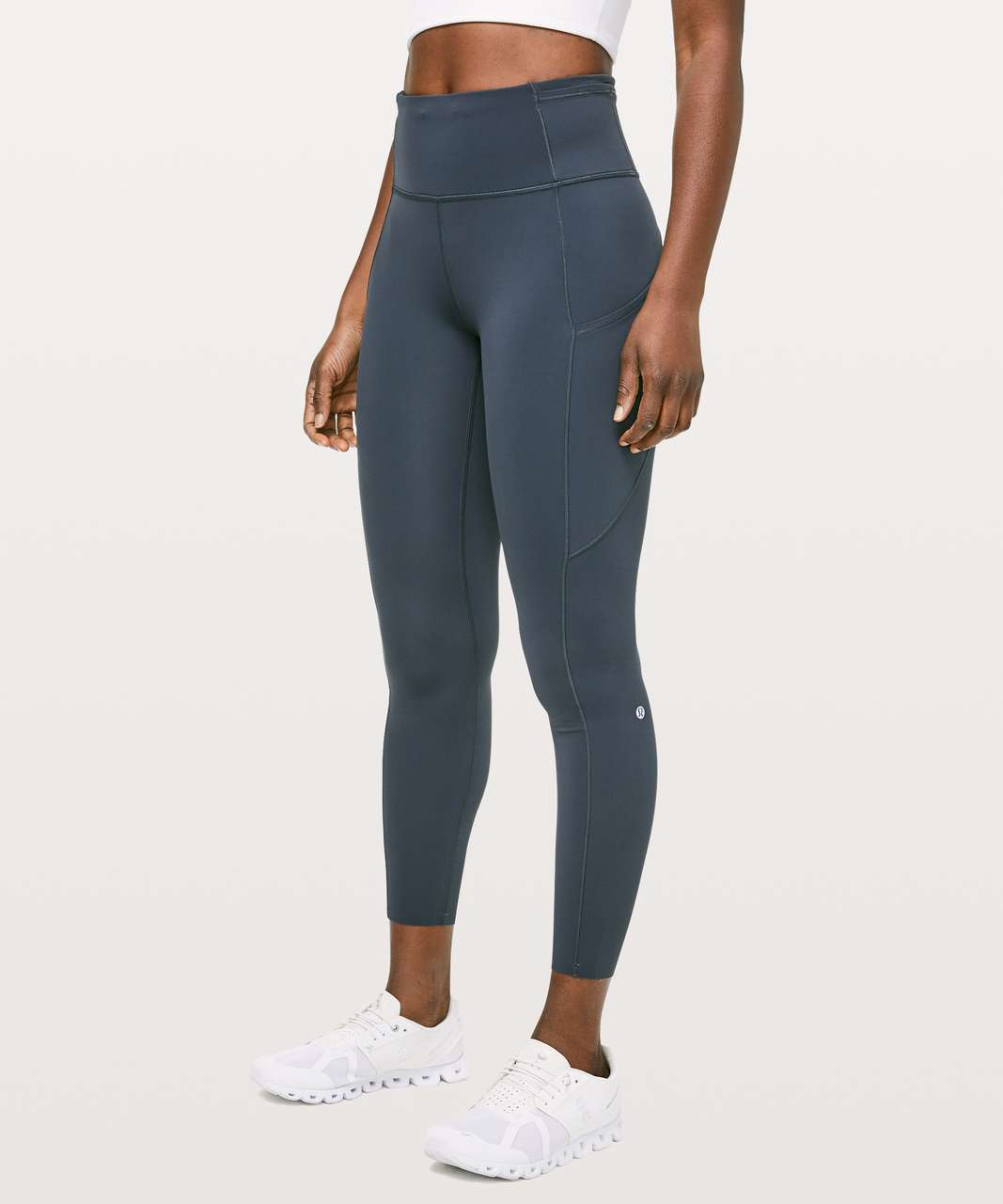 "Lululemon Fast & Free 7/8 Tight II *Non-Reflective Nulux 25"" - Melanite"