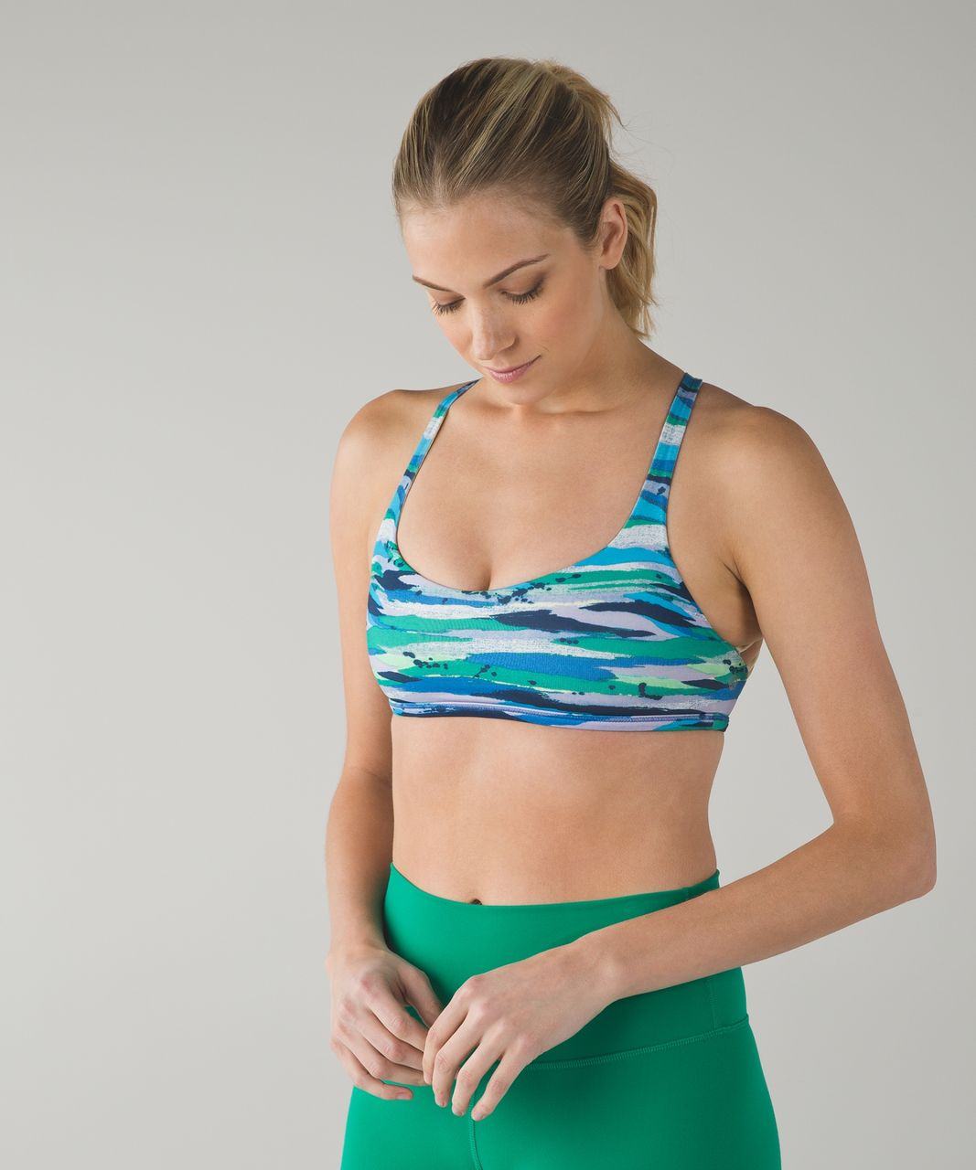 Lululemon Free To Be Bra (Wild) - Seven Wonders Multi / Zest