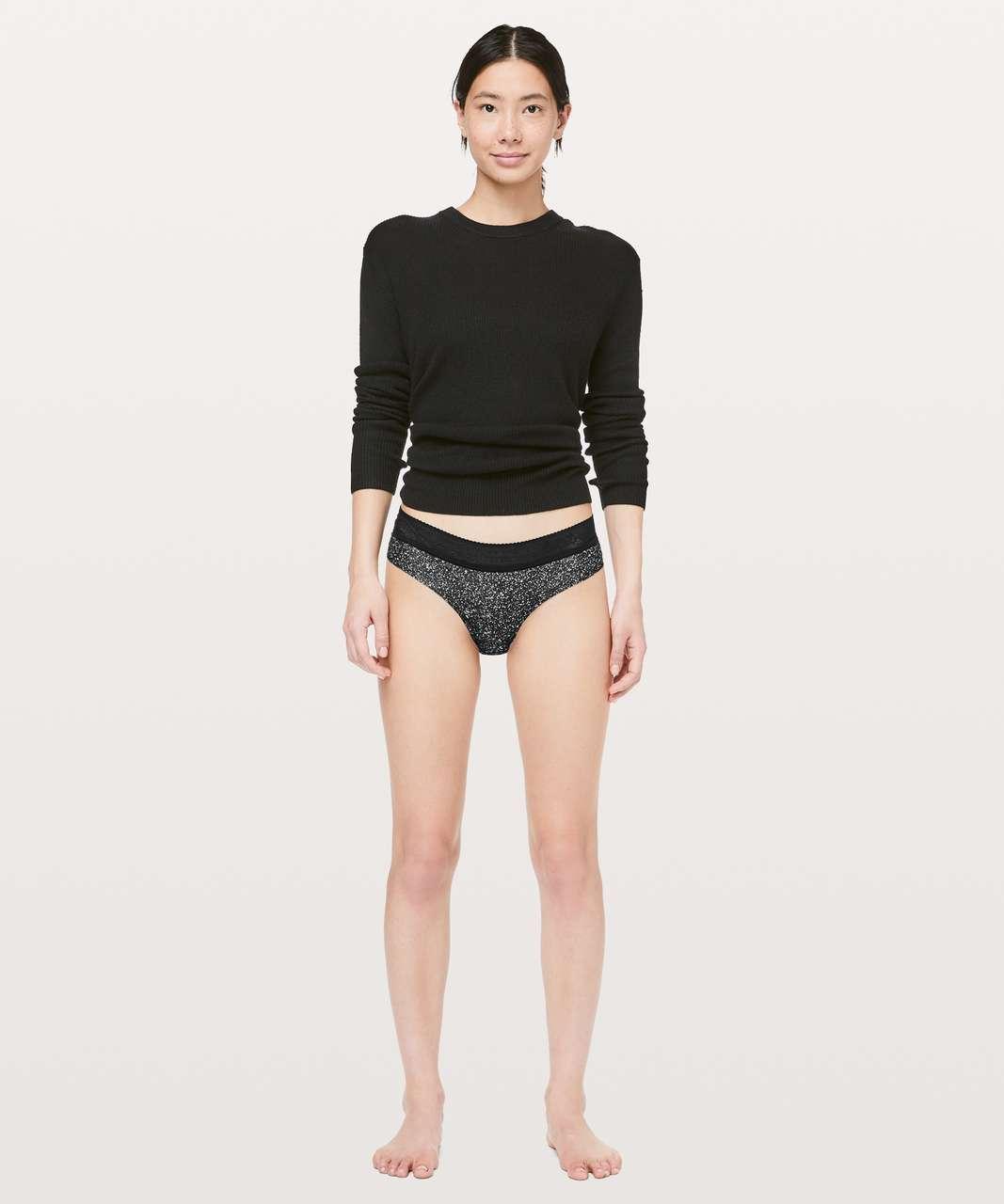 Lululemon Ever Essentials Bikini - Diffuse Starlight Black  / Black