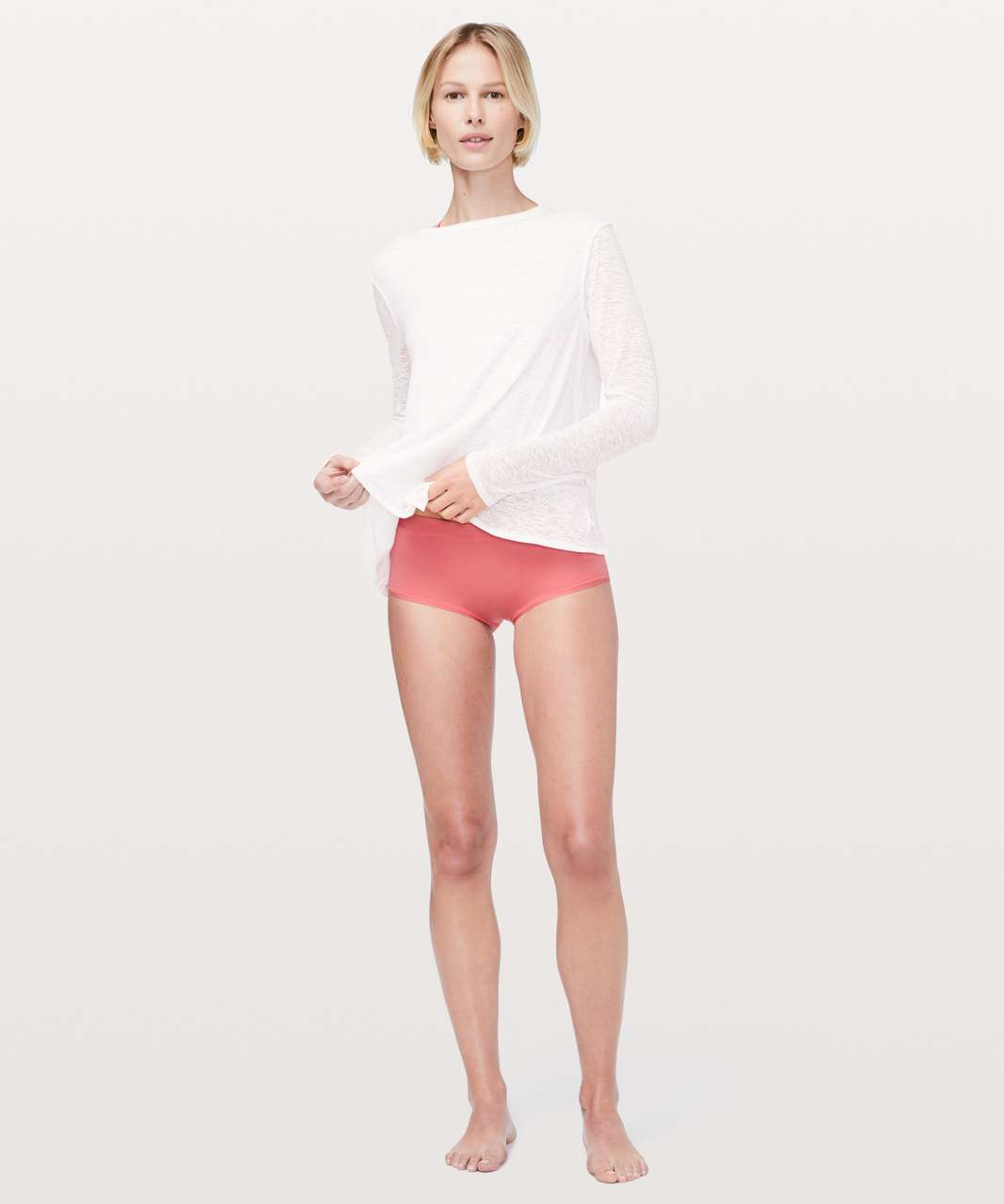 Lululemon Simply There Boyshort - Blush Coral