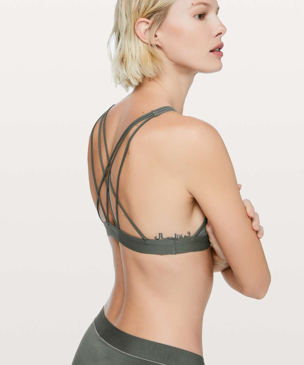 Lululemon A Little Bit Closer Bralette - Grey Sage