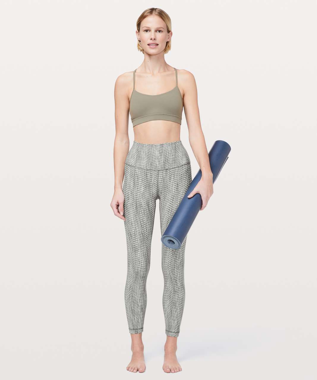 "Lululemon Wunder Under High-Rise 7/8 Tight *Full-On Luxtreme 25"" - Arrow Jacquard Dark Olive Grey Sage"