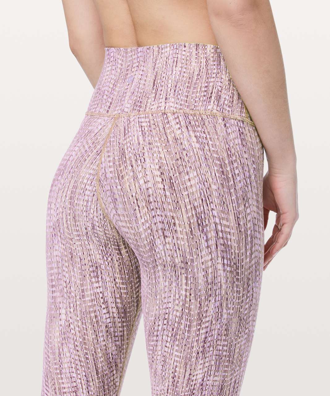 "Lululemon Wunder Under High-Rise 7/8 Tight *Full-On Luon 25"" - Arrow Jacquard Antique Bark Copper Coil"