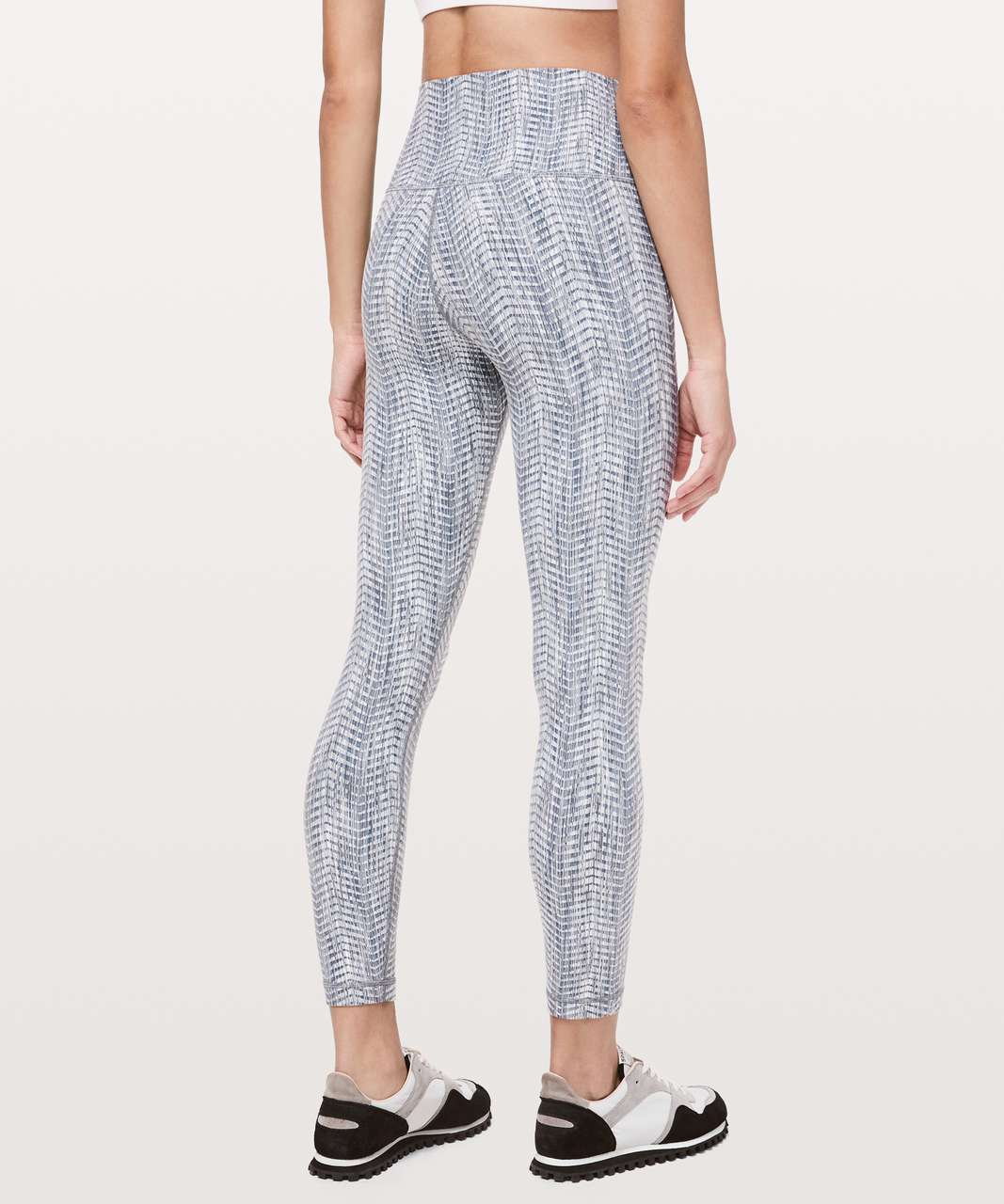 "Lululemon Wunder Under High-Rise 7/8 Tight *Full-On Luon 25"" - Luon Arrow Jacquard Battleship Silver Spoon"