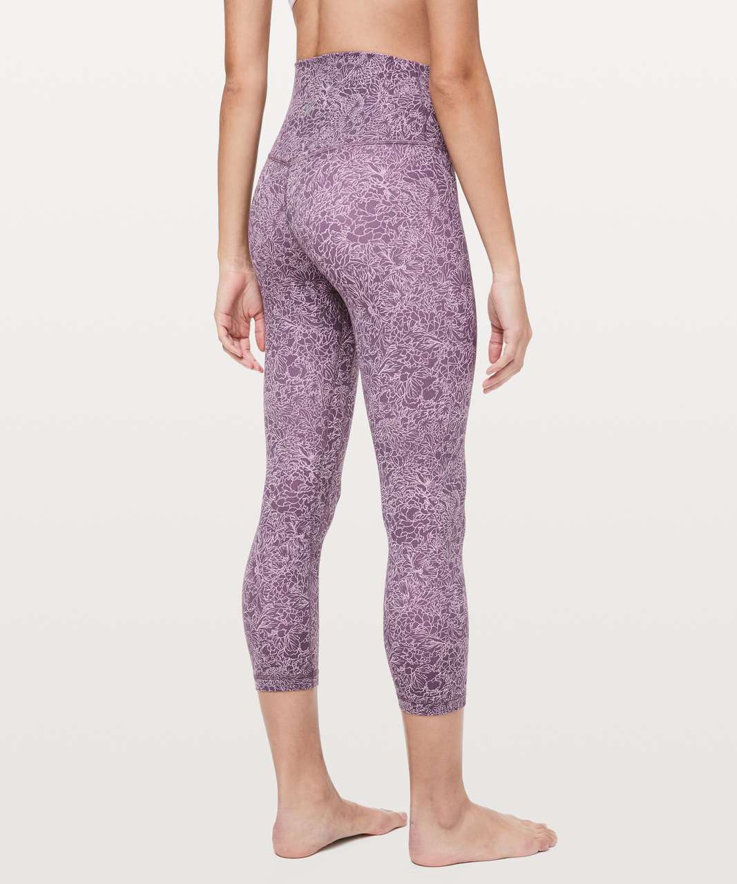 "Lululemon Align Crop *21"" - Arabesque Antoinette Smoky Quartz"