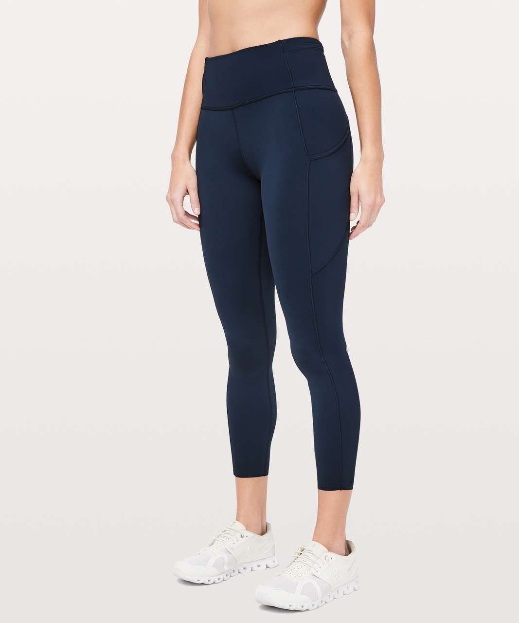"Lululemon Fast & Free 7/8 Tight II *Non-Reflective Nulux 25"" - True Navy"