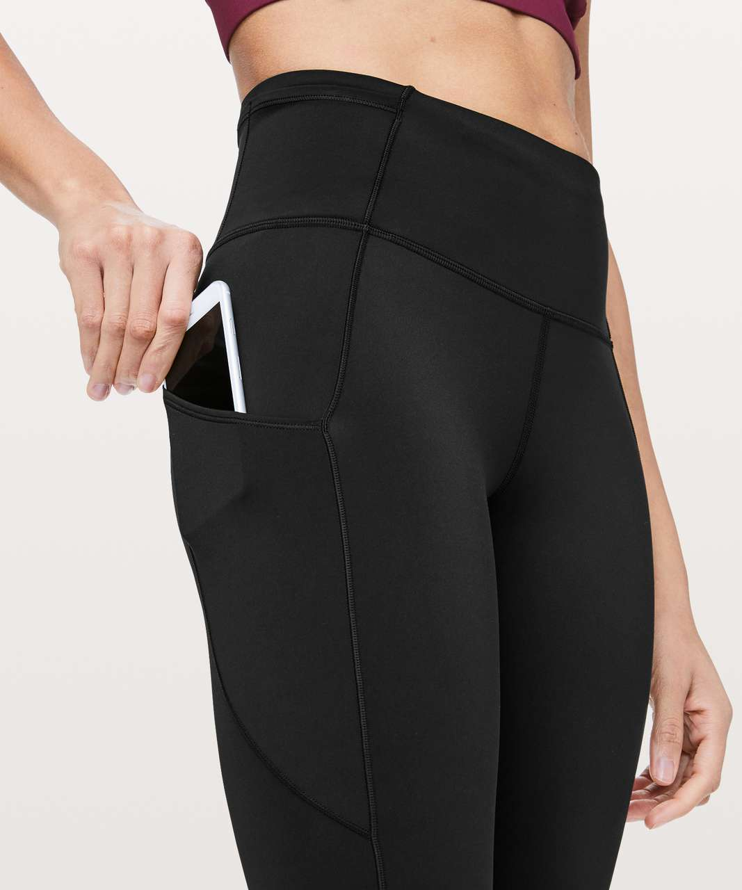 "Lululemon Fast & Free 7/8 Tight II *Non-Reflective Nulux 25"" - Black"