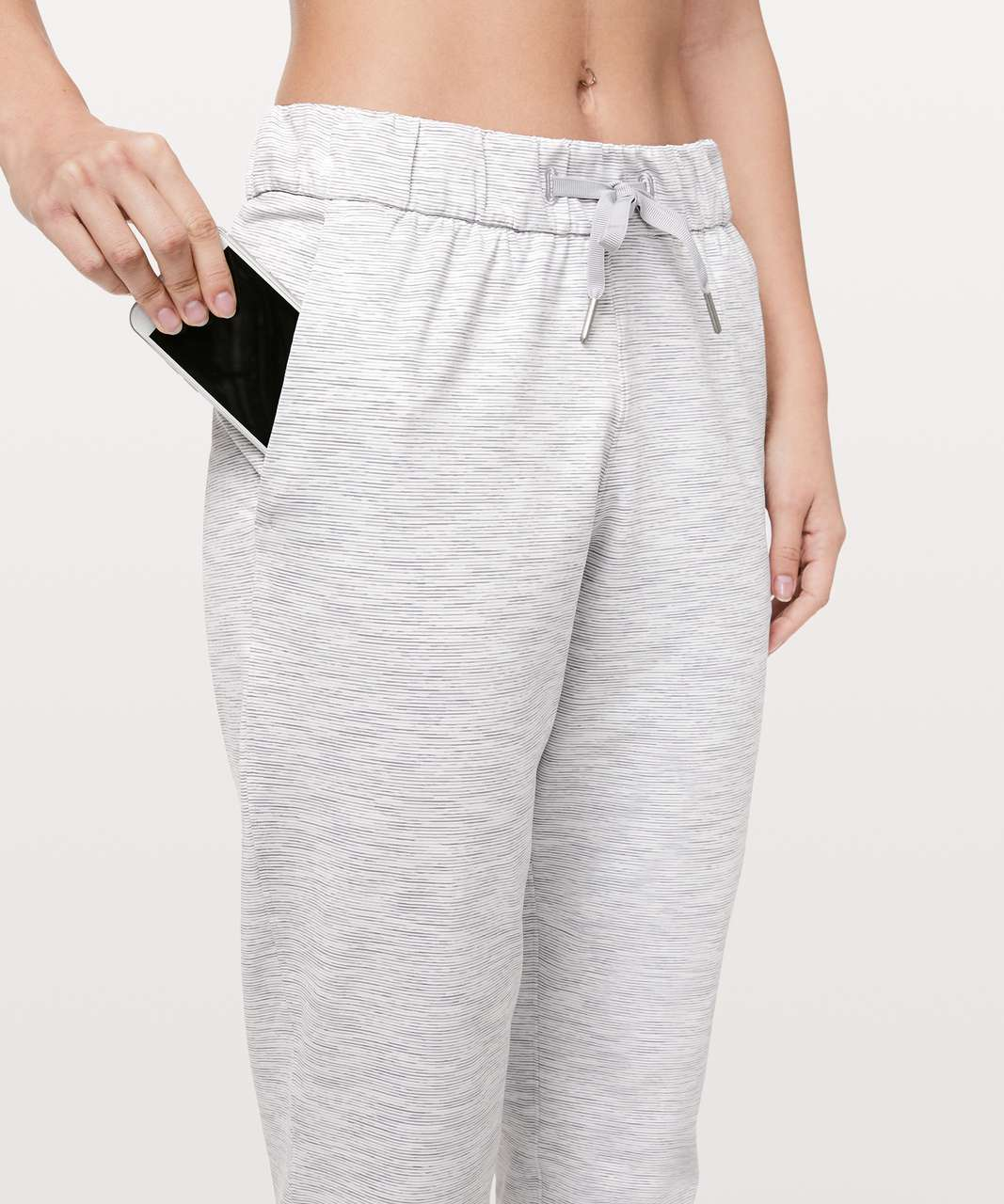 """Lululemon On The Fly Pant *27"""" - Wee Are From Space Nimbus Battleship"""