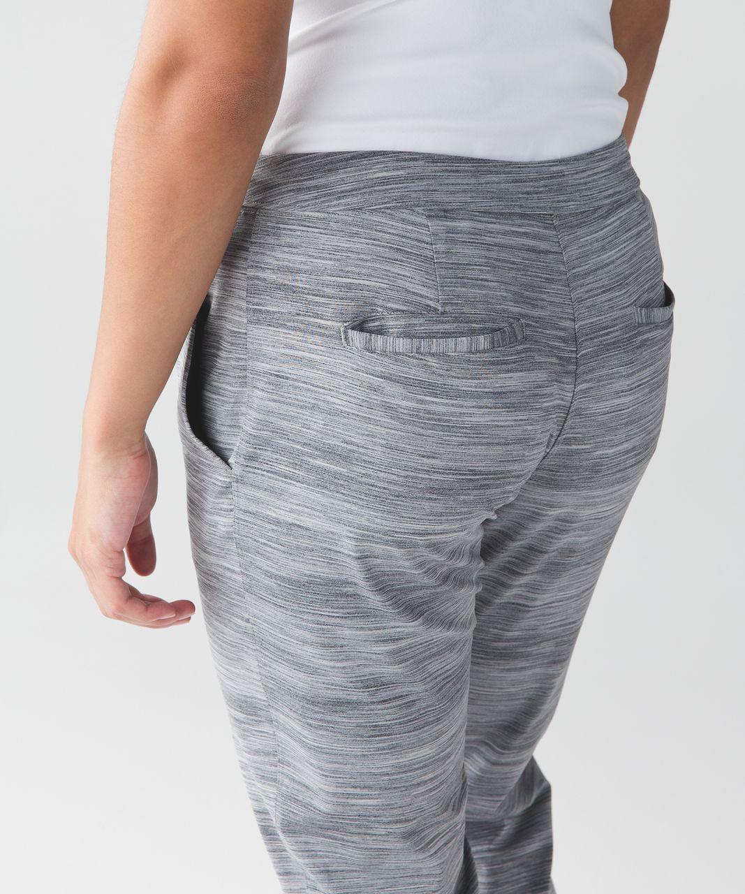 Lululemon Jet Crop (Slim) - Space Dye Camo Seal Grey Deep Coal