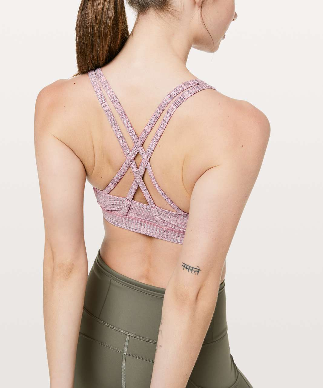 Lululemon Energy Bra - Arrow Jacquard Antique Bark Copper Coil