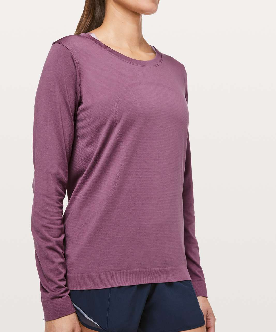 Lululemon Swiftly Tech Long Sleeve (Breeze) *Relaxed Fit - Vintage Plum / Vintage Plum