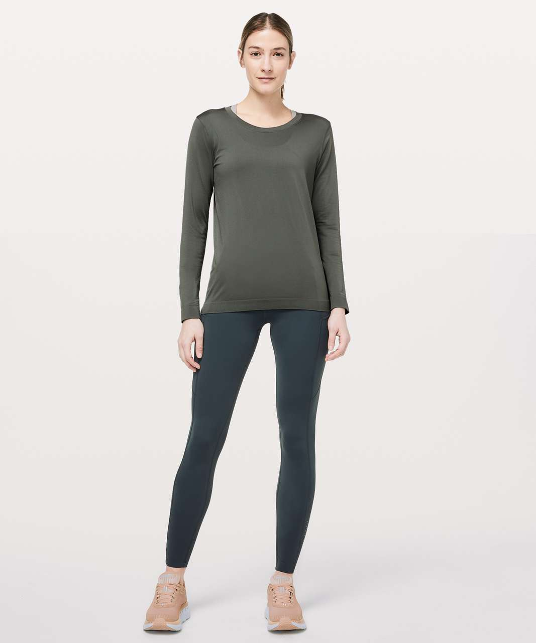 Lululemon Swiftly Tech Long Sleeve (Breeze) *Relaxed Fit - Grey Sage / Grey Sage