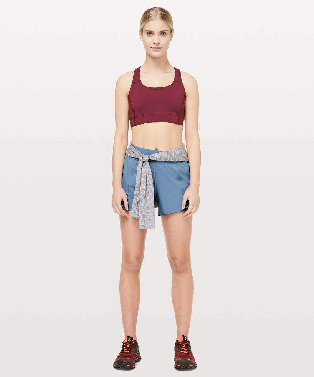"Lululemon Hotty Hot Short *High-Rise Long 4"" - Utility Blue"