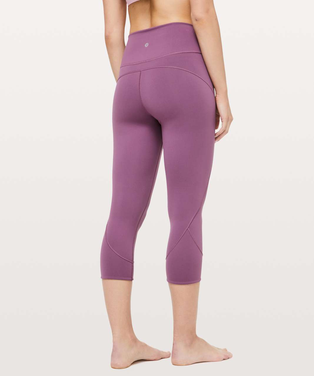 "Lululemon In Movement Crop *Everlux 19"" - Vintage Plum"
