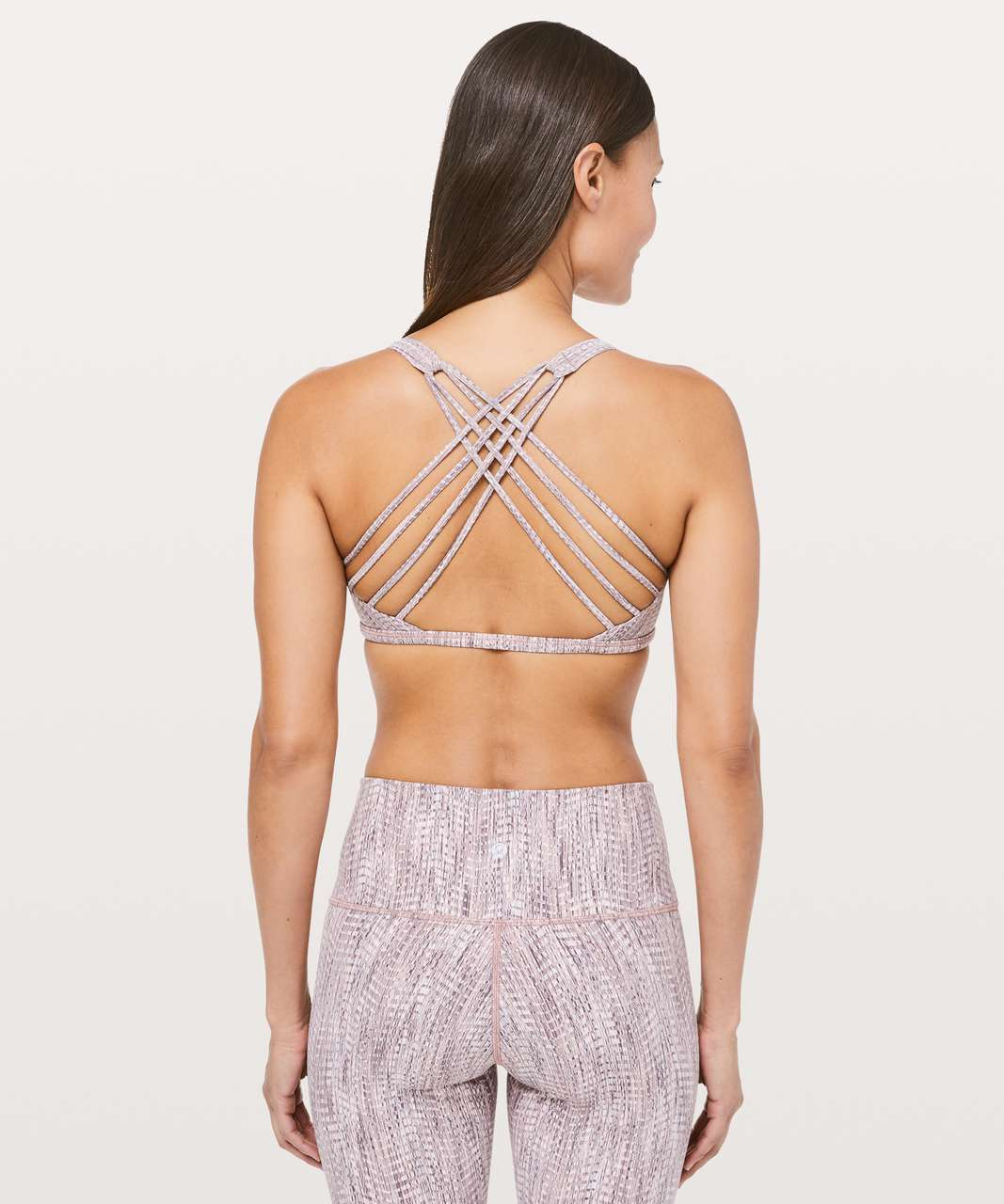 Lululemon Free To Be Bra (Wild) - Arrow Jacquard Antique Bark Copper Coil