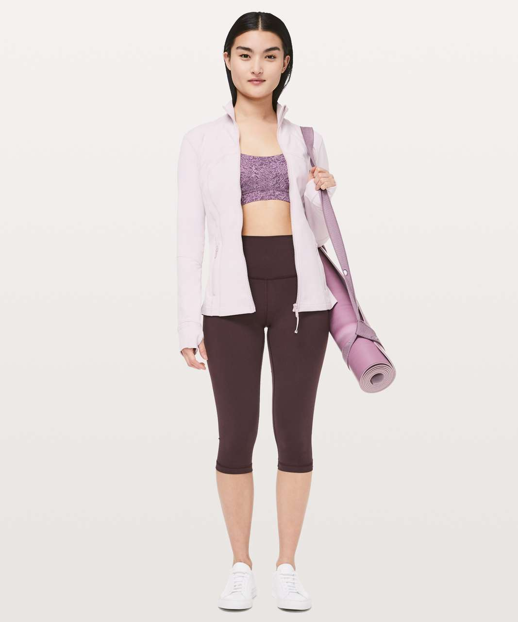 Lululemon Flow Y Bra *Nulu - Arabesque Antoinette Smoky Quartz