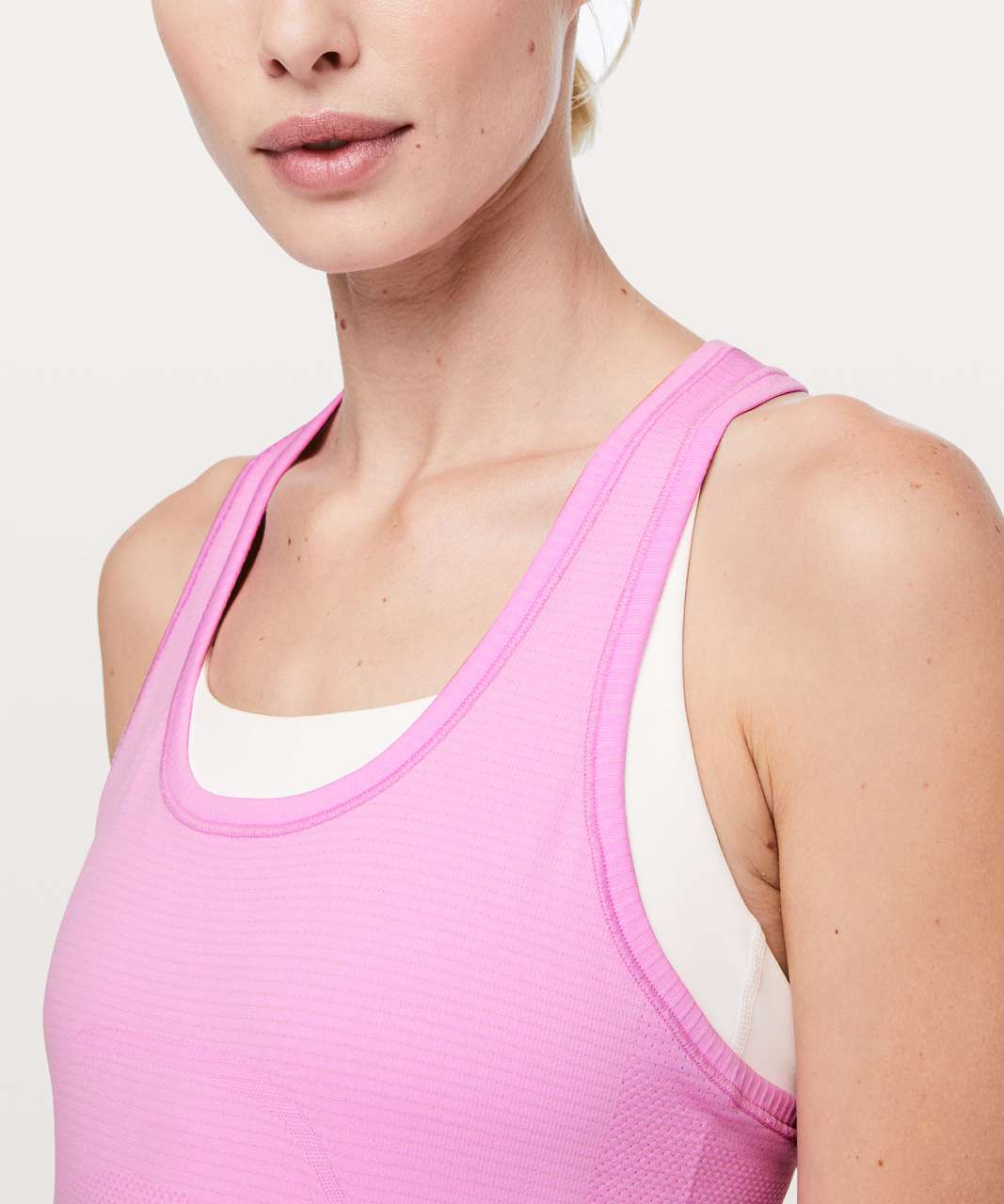 Lululemon Swiftly Tech Racerback - Vintage Pink / White