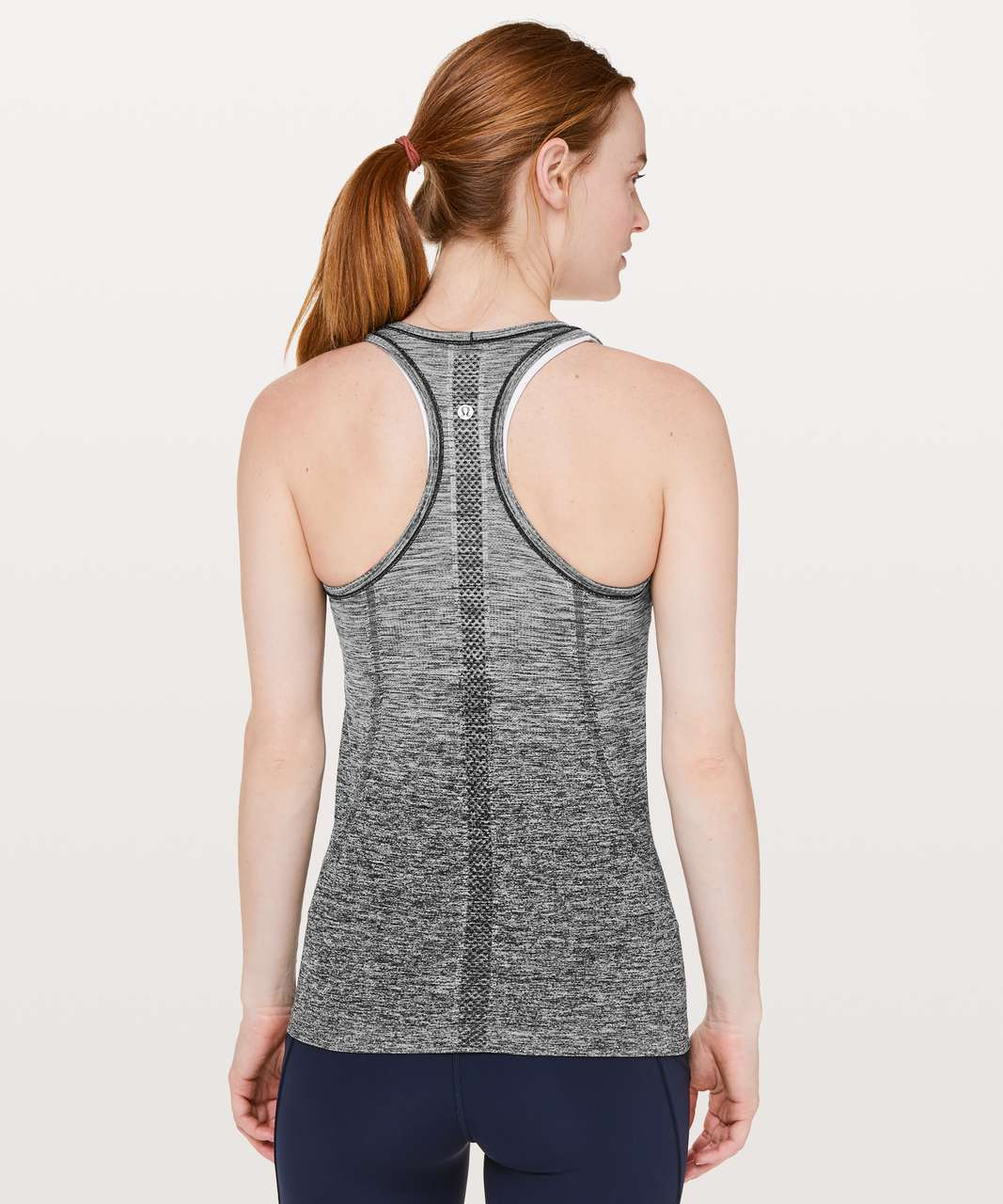 Lululemon Swiftly Tech Racerback - Black / White (Ombre)