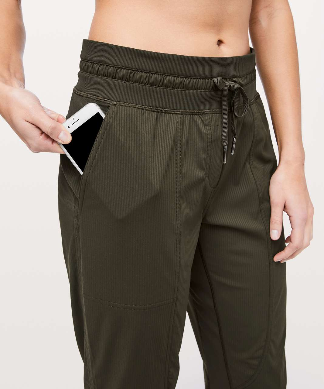 "Lululemon Dance Studio Crop *25"" - Dark Olive"