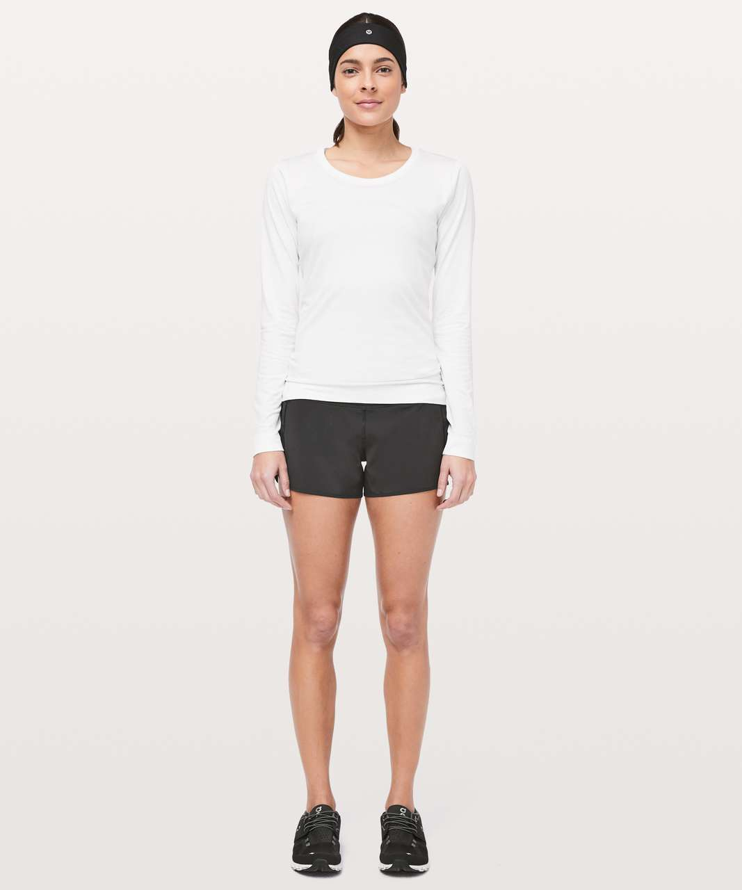 "Lululemon Mesh Over Miles Short *3"" - Black"