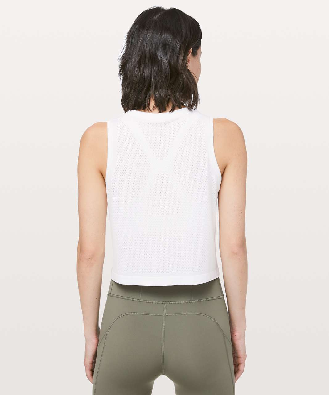Lululemon Breeze By Muscle Crop Tank *lululemon - White / White